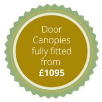 Door canopies from £1095